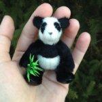 Авторская панда с подвижными лапами