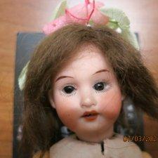 Антикварная мини-куколка,миньонетта,примитивка.