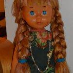 """Кукла СССР""""Нина """"шагающая .Ранний тип !С длинными волосами .Очень редкая!"""