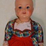 Кукла папье - маше.Сонненберг .1950 ггМолд 2966 .58 cм.Под восстановление!