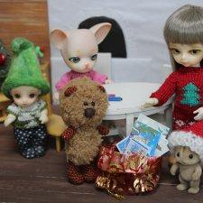 Новогодние открытки. Hujoo Baby, Felix (Brownie) Small Comfort