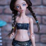 Продам паричок из козочки на шкурке для минифи (minifee), DIM doll, Doll Chateau. 17-18,5 см