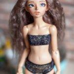 Продам паричок из козочки на шкурке для минифи(minifee),DIM doll,Doll Chateau,17-18,5 см