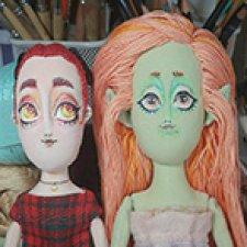 О новых куклах из ткани и зеленой русалке
