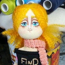 Санни, позитив с характером. История создания куклы из ткани