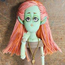 Теперь немного эльфов, текстильная кукла