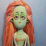 Эмма, русалка-косплейер, текстильная авторская кукла