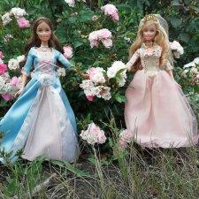 Ежегодная фотосессия моих куколок Барби принцесса и нищенка