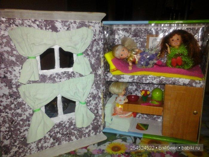 Как сделать кукольный домик  из коробки обуви 91