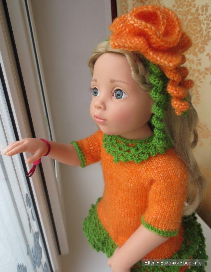 """Комплект """"Осенние цвета"""" (платье, гетры, повязка с брошью)"""