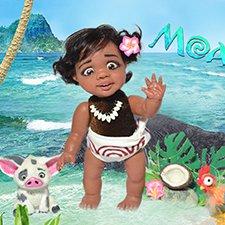 Малышка Моана и ее друзья