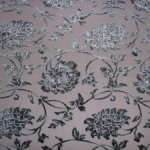 Винтажная ткань: трикотаж цвета тауп( taupe) c ткаными цветами из бархата.