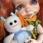 Куколка для куколок. Игрушка вязанная спицами