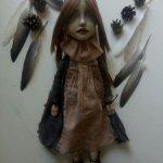 Авторская кукла Снегирь. Девочка.