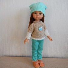 Комплект для куклы Паола Рейна. Мятная сова