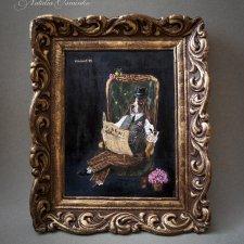 """Картина куклы """"Сэр Бассет Хаунд"""".  Авторские куклы Натальи Осминко"""