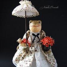 Лягушка Алионора. Авторские куклы Осминко Натальи