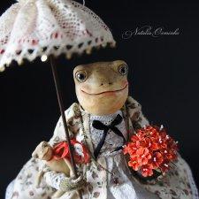 Видео куклы Лягушка Алионора. Авторские куклы Осминко Натальи