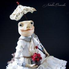 Лягушка Элли. Авторские куклы Натальи Осминко