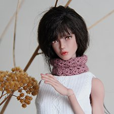 Авторская шарнирная кукла Мия