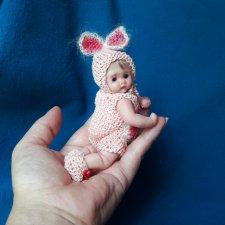 Авторские мини куколки из полимерной глины