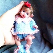 Куклы из силикона,маленькая  блондинка, брюнетка, шатенка