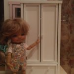 Шкаф для кукол 15-20 см