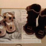 Обувь для антикварной куклы
