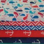 Набор ткани Морской 5 видов