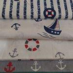 Набор ткани Морской-2, 4 отреза