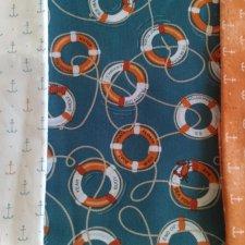 Набор ткани Морской-3, 3 отреза