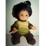 Кукла куколка ГДР Бигги пухлик брюнетка