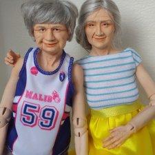 Авторская шарнирная кукла Бабушка от Александры Соцковой