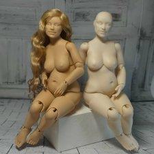 """Авторская шарнирная кукла """"Катерина"""" на теле plus size"""