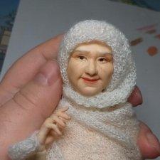 Авторская шарнирная кукла бабушка Татьяна 24 см от Александры Соцковой