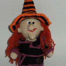 Ведьмочка - игрушка вязанная крючком