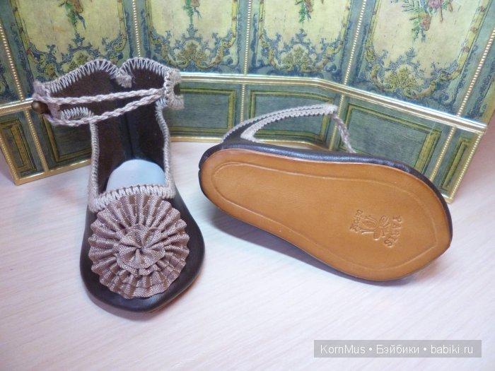 Французские туфли в стиле Жюмо, длина 10,4 см