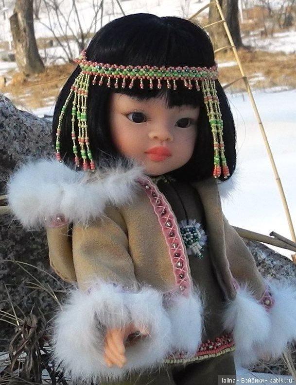 чукотский национальный костюм, авторская работа Галины Лайковой для кукол Paola Reina32 см и аналогичных