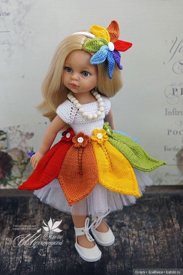 мастер класс платье спицами для паолок акварельки вязание для