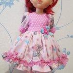 СКИДКИ! 1300 рублей! Платье куклы Paola Reina 32 - 34 см Шебби-мишки с ромашками