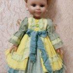 Платье для кукол Paola Reina 32 — 34 см и им подобным Лайм и лимон!
