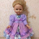Сегодня цена 1550 руб! Платье для кукол Paola Reina 32 — 34 см Сирень в цвету