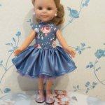 Сегодня цена 1250! Платье для куклы Paola Reina 32-34 см Лиловое настроение