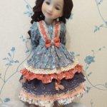 Платье и штанишки куклам Ruby Red 37 см Шебби!