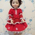 Платье и юбка куклам Ruby Red 37 см Маленькое красное платье