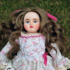 Новая восковая куколка по мотивам антикварных