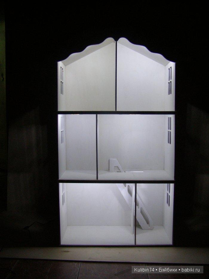 Пример освещения в домиках