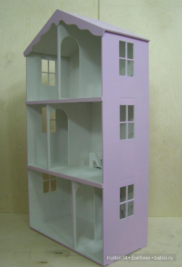 Склеенный домик для Барби, с освещением.