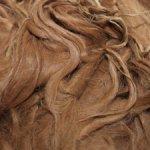 Флис альпака сури, коричнево-рыжий.