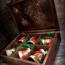 Винтажный Новый год.Набор деревянных игрушек